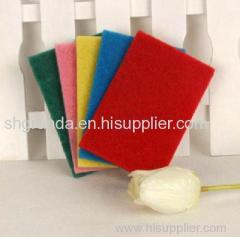 Colorful scouring pad non scratch nylon scouring pad