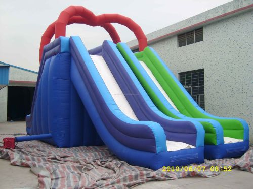 Big Double Lanes Water Slide For Sale