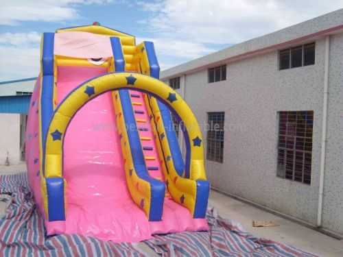 Pink Residential Inflatable Slide