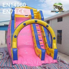 Pink Inflatable Bouncy Water Slide