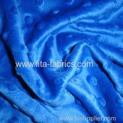 Super soft minky fleece fabric