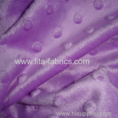 Embossed super soft velboa