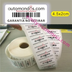 Anti Theft Barcode Labels