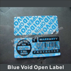 custom order hologram ultra destructible labels/hologram warranty void stickers
