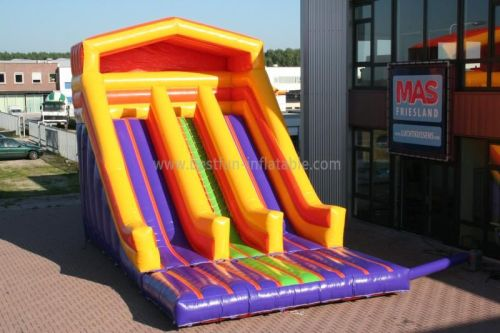Colorful Inflatable Double Lanes Slide
