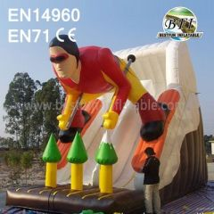 Inflatable Skiing Man Slide