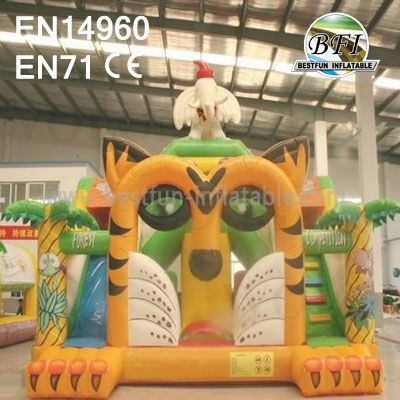Children Inflatable Tiger Bounce Slide