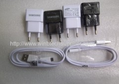 USB Charger 100% 2A EU Plug Wall Charger + MICRO USB Cable For Samsung Galaxy S4