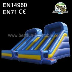 Small Blue Inflatable Slide Double