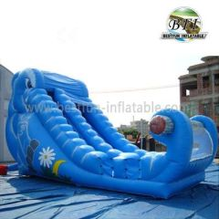 Big Blue Inflatable Slide For Sale