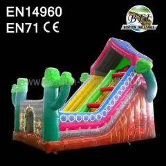 Inflatable House Slide With Tree