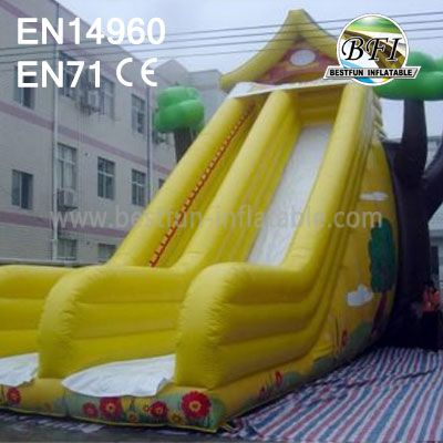 Yellow Inflatable Slide House