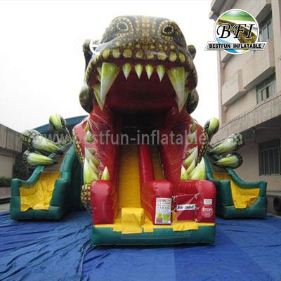 Inflatable Triple Lanes Dragon Slide