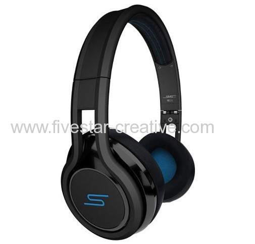 SMS Street by 50 On-Ear Wired Headphones Black