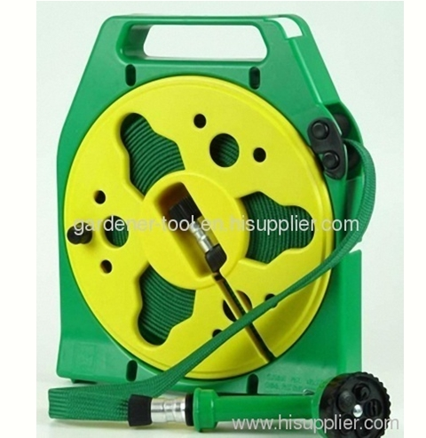 50FT Flat Hose Reel With 5-function hose nozzle