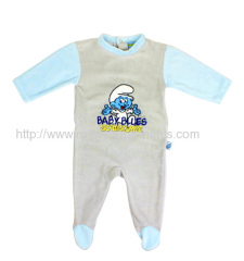 NRMG4337 baby blles schtroompf words jumpsuit