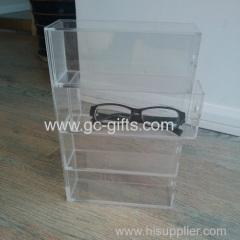 4 drawer type acrylic glasses display