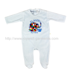Light bule with lovely pattern baby jumpsuit