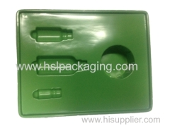 flocking packing box PVC flocking tray for cosmetic