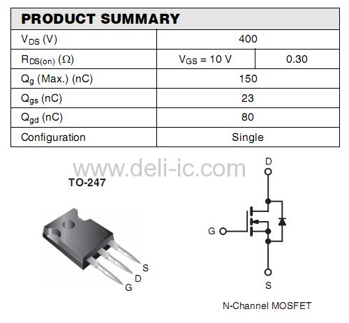 IRFP350 - Power MOSFET - ST from China manufacturer - DELI