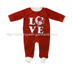 Red suiit for any season baby romper