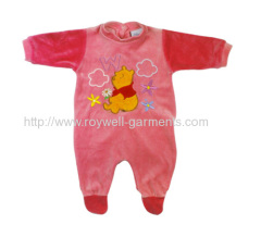 Baby girl romper with nice emb. on the front chest