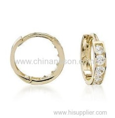Hoop earring for kids with 14k Glod plated