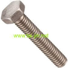 titanium hex head bolt rod and fastener piece