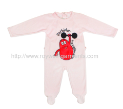 Hot selling 100% cotton jumpsuit baby clothing