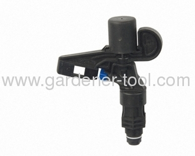 Plastic Irrigation Impulse Sprinkler With 3/4male screw thread tapping.