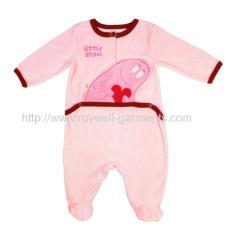 NRMG4263 baby pink baby romper