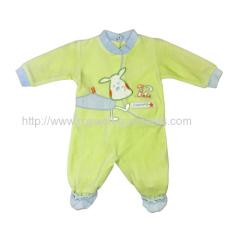 Grass green NRMG4313 Baby velour romper