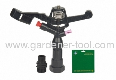 Plastic farm impulse sprinkler with G3/4female thread tapping