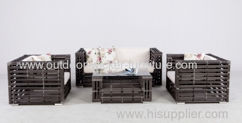 Outdoor Leisure Water Pipe Rattan Sofa Set