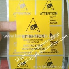 ESD Warning Labels Provide Warnings for Static Sensitive Products,2x2 inch Reusable ESD Sensitive Warning Labels