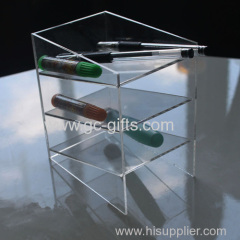 Hot selling acrylic inclined put pen