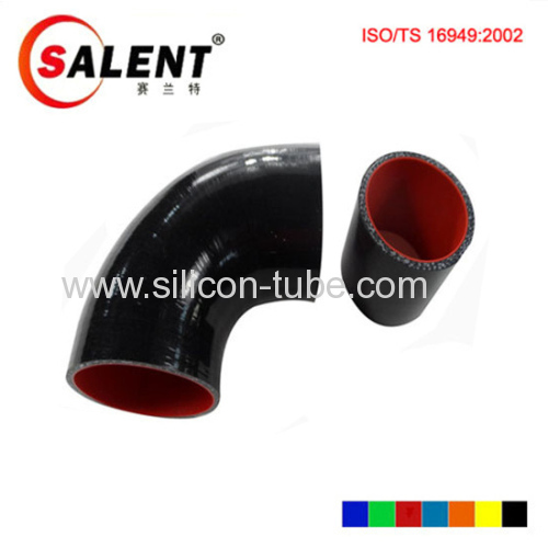 High anti-aging 90 degree / 45 deg black Reducer Elbow silicon hose 63-57mm