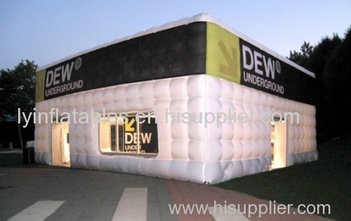 0.55mm PVC large inflatable cube tent with LED light tent & 0.55mm PVC large inflatable cube tent with LED light tent from ...