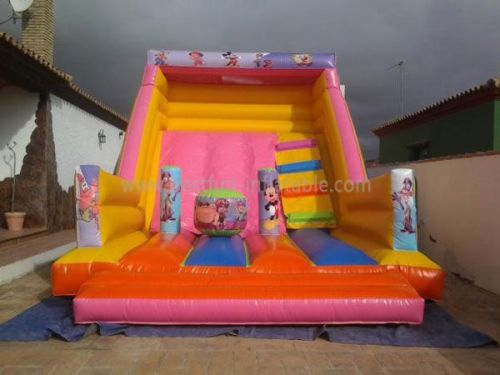 Pink Inflatable Mickey Mouse Theme Slide