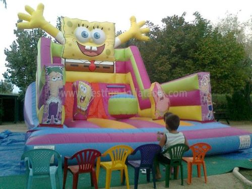 Cartoon Inflatable Spongebob Children Slide For Sale