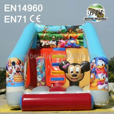 New Mini Inflatable Mickey Mouse Slide