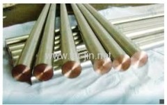 ISO9001 Acessed by BV titanium clad copper round square bar