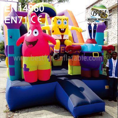Inflatable Spongebob Slides For Kids Party