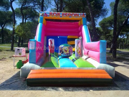 Inflatable Spongebob Island Slide Rental