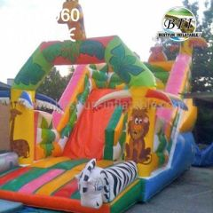 Safari Inflatable Jumping Castles Slide
