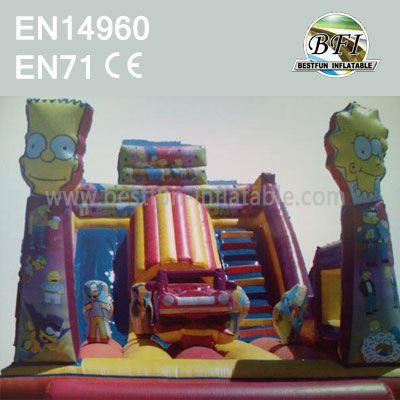 Giant Inflatable Cartoon Bouncer Tube Slide