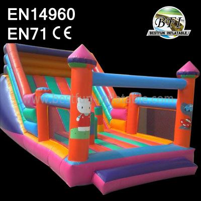 Inflatable Hello Kitty Castle Slide