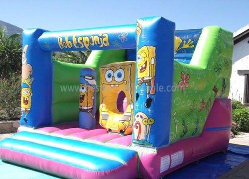 Children Spongebob Inflatable Bounncy Slides