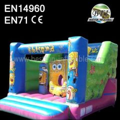 Backyard Spongebob Inflatable Slides Commercial Party