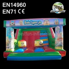 Small Inflatable Spongebob Theme Slide Bouncer